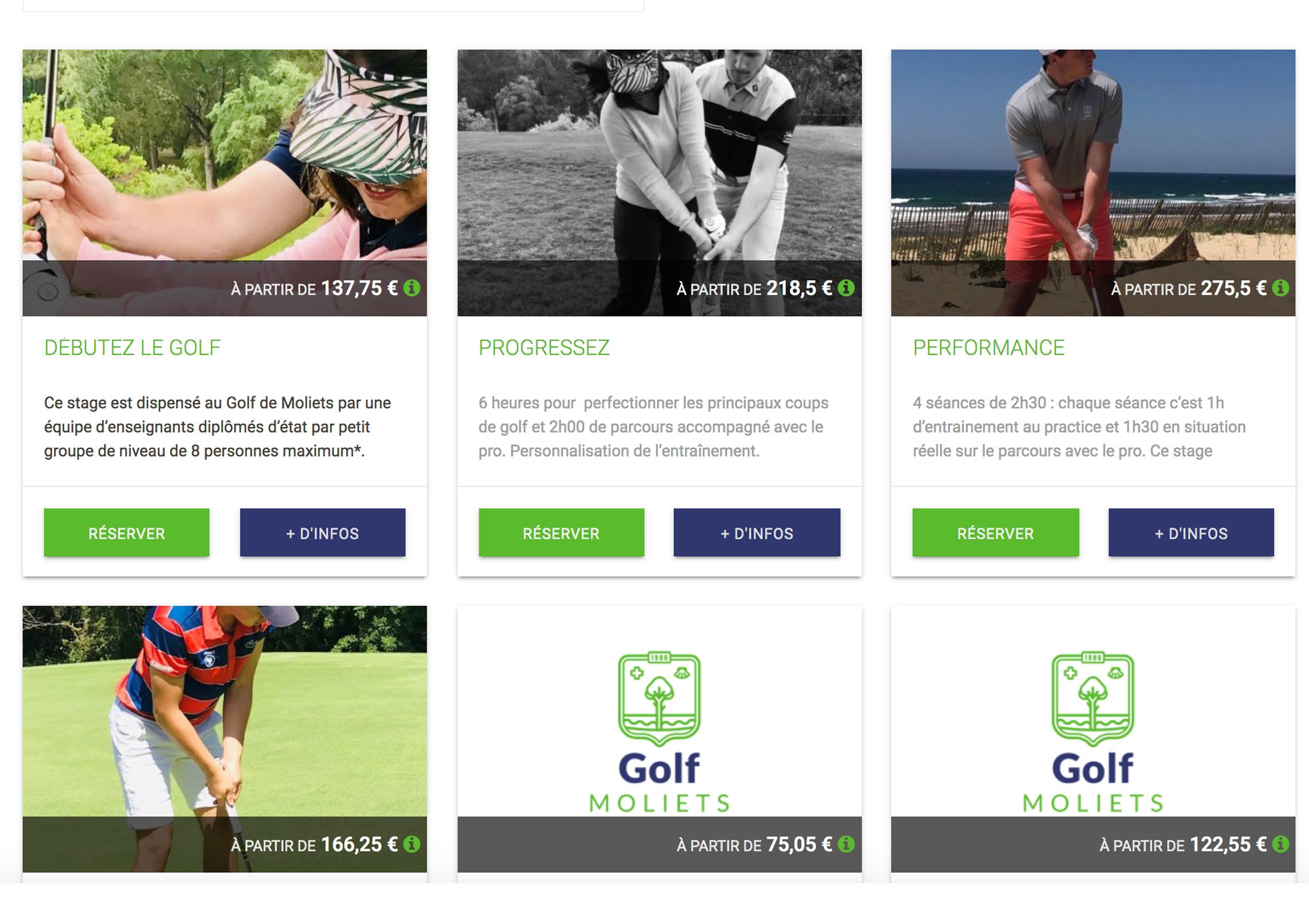 Vendez vos stages de golf en ligne en toute simplicité !