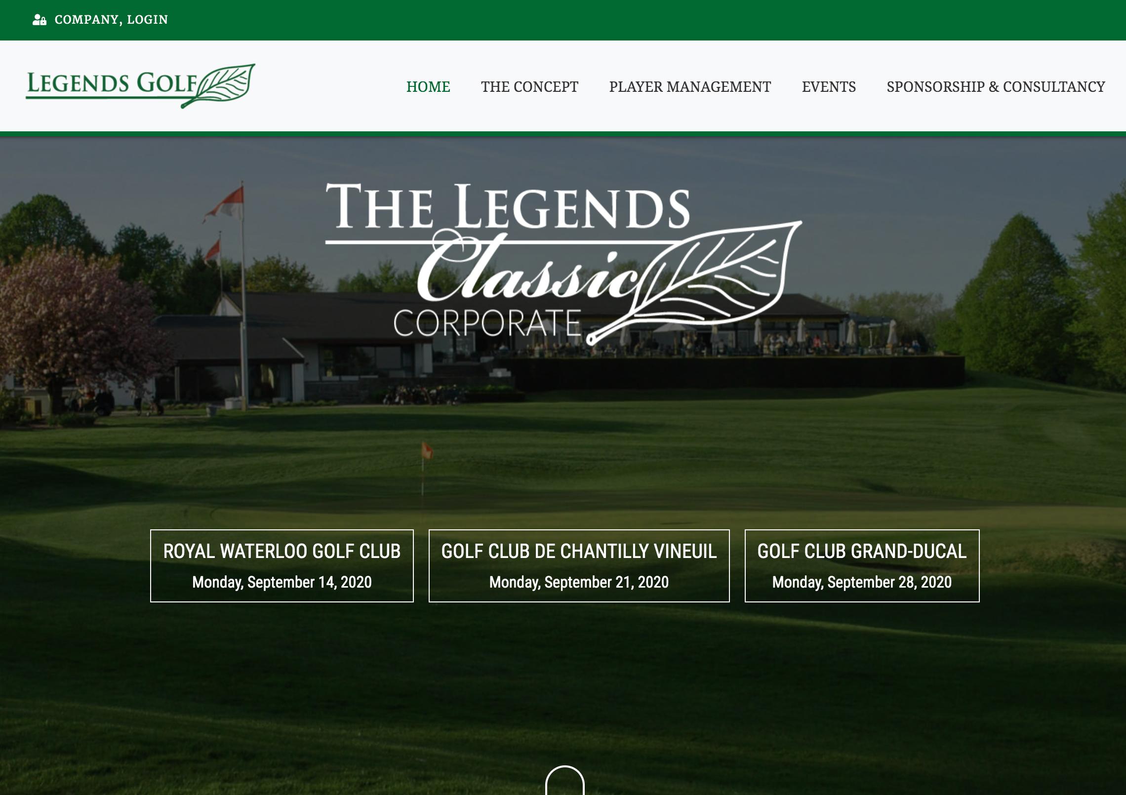 Legends Golf, une plate-forme de gestion d'événements golfiques