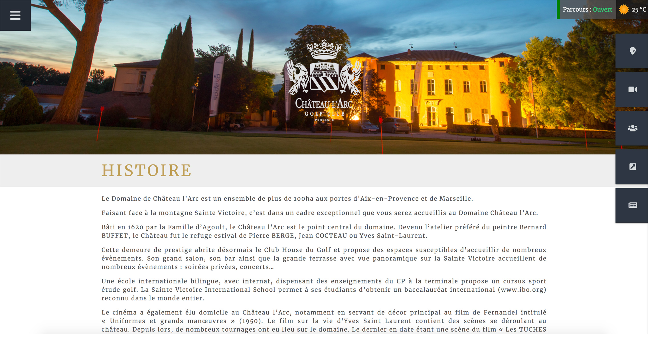Golf Château l'ARC